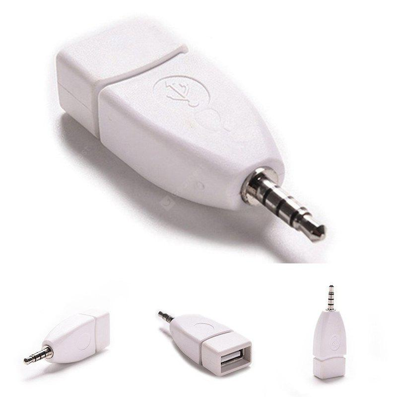 2pcs 3.5mm Male AUX Audio Plug To USB 2.0 Female Converter Adapter Cable