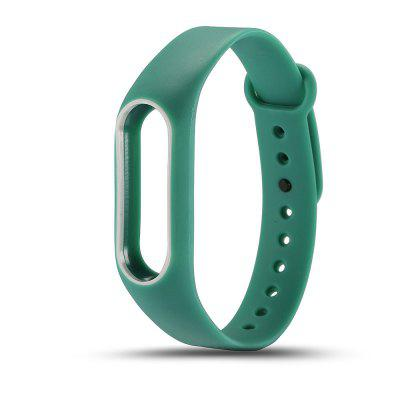 Buy GREEN + WHITE Colorful Silicone Wrist Strap Bracelet Double Color Replacement watchband for Miband 2 Xiaomi Mi band 2 Wristbands for $2.79 in GearBest store