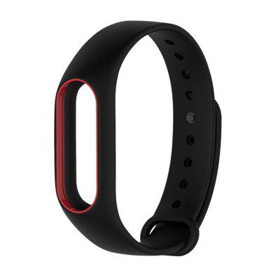 Buy BLACK AND RED Colorful Silicone Wrist Strap Bracelet Double Color Replacement watchband for Miband 2 Xiaomi Mi band 2 Wristbands for $2.79 in GearBest store
