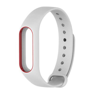 Buy WHITE + RED Colorful Silicone Wrist Strap Bracelet Double Color Replacement watchband for Miband 2 Xiaomi Mi band 2 Wristbands for $2.79 in GearBest store