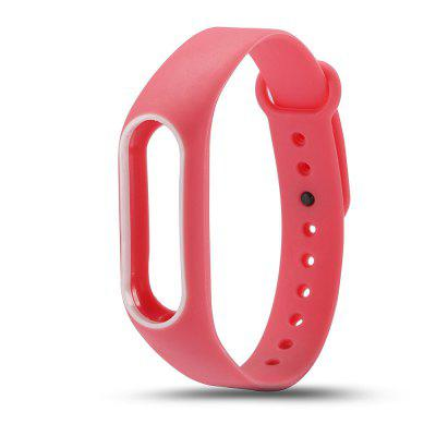 Buy PINK + WHITE Colorful Silicone Wrist Strap Bracelet Double Color Replacement watchband for Miband 2 Xiaomi Mi band 2 Wristbands for $2.79 in GearBest store