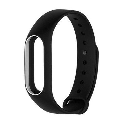 Buy BLACK WHITE Colorful Silicone Wrist Strap Bracelet Double Color Replacement watchband for Miband 2 Xiaomi Mi band 2 Wristbands for $2.79 in GearBest store