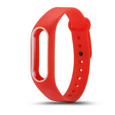 Buy RED Colorful Silicone Wrist Strap Bracelet Double Color Replacement watchband for Miband 2 Xiaomi Mi band 2 Wristbands for $2.79 in GearBest store