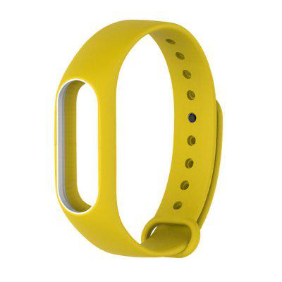 Buy YELLOW Colorful Silicone Wrist Strap Bracelet Double Color Replacement watchband for Miband 2 Xiaomi Mi band 2 Wristbands for $2.79 in GearBest store