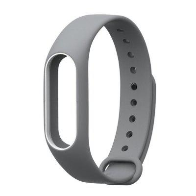 Buy GREY AND WHITE Colorful Silicone Wrist Strap Bracelet Double Color Replacement watchband for Miband 2 Xiaomi Mi band 2 Wristbands for $2.79 in GearBest store