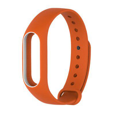Buy ORANGE+WHITE Colorful Silicone Wrist Strap Bracelet Double Color Replacement watchband for Miband 2 Xiaomi Mi band 2 Wristbands for $2.79 in GearBest store