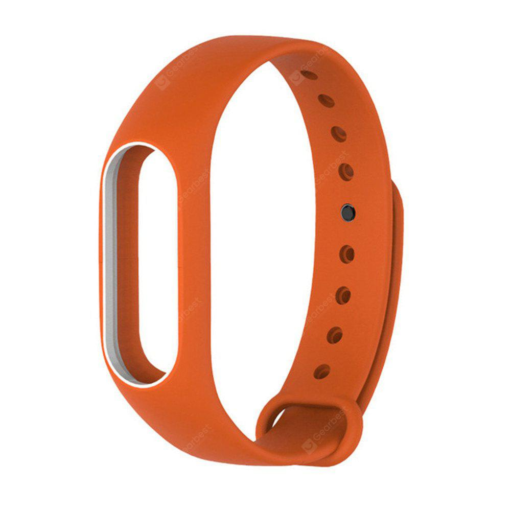 Colorful Silicone Wrist Strap Bracelet Double Color Replacement watchband for Miband 2 Xiaomi Mi band 2 Wristbands