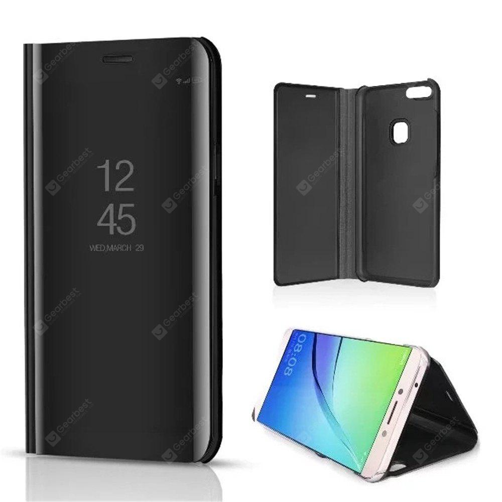 Mirror Flip Leather Clear View Window Smart Cover for Huawei P10 Lite