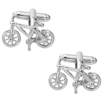 High Quality Silver Bicycle Cufflinks French Long Sleeved Shirt Nail