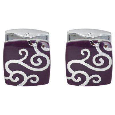 Luxurious Purple Auspicious Clouds Cufflinks