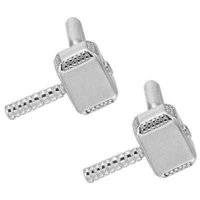 High Quality French Silver Hammer Cufflinks Cuff Links