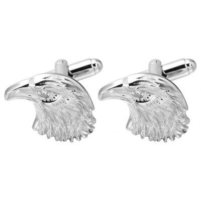 Silver Eagle Cufflinks High-Quality French Cuff Links