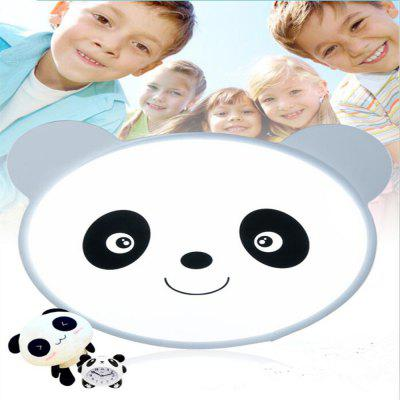 LED Non Light Dimming Bedroom Book Room Care for The Eye Lovable Panda Cartoon Ceiling 48 x 38 CM