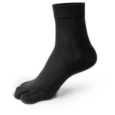 Buy BLACK New Arrivals Men Five Toes Tube Sock Anti Bacterial and Anti-odor Socks for $10.24 in GearBest store