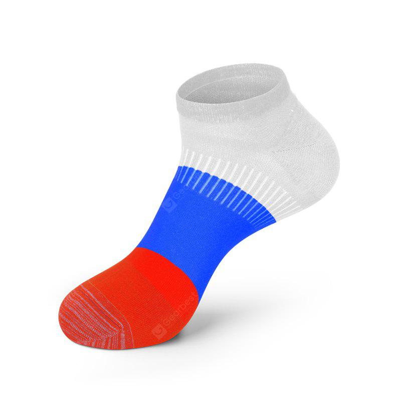 COLORMIX Men Russia Flag Cotton Sock Popular Anti Bacterial and Anti-odor Solid Color Socks