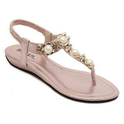 Ladies Rubber Sole Water Drill String Large Size Sandal Sandals