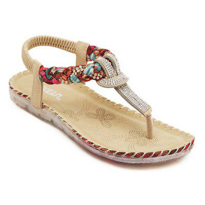 Ladies Rubber Sole Water Drill Big Foreign Trade Flat Sandals