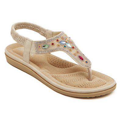 Ladies Rubber Sole Water Drill Clamp Foot Flip-Flops