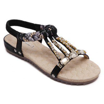 Women'S Water Drill String Beads and Foot Sandals