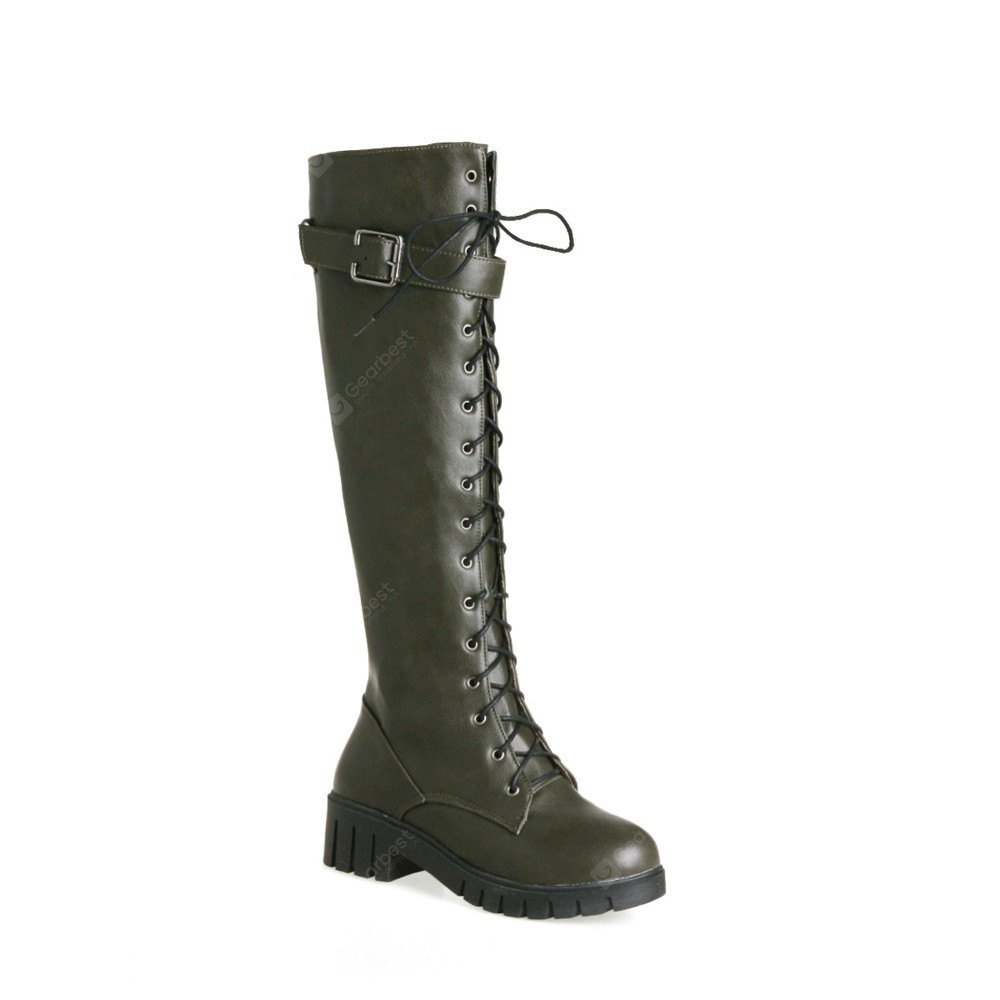 Miss Shoes Bb17-3 Wear Head spessi e tondi The Long Boots