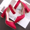 Miss Shoe Hsy998-1 High Heel Fashion Single Shoes - RED