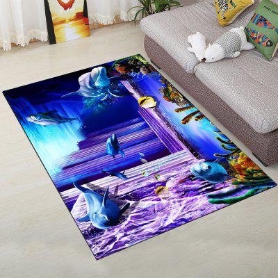 Buy Home Floor Rug Creative Sea World Pattern Comfy Antiskid Door Mat COLORMIX 80X120CM for $42.81 in GearBest store