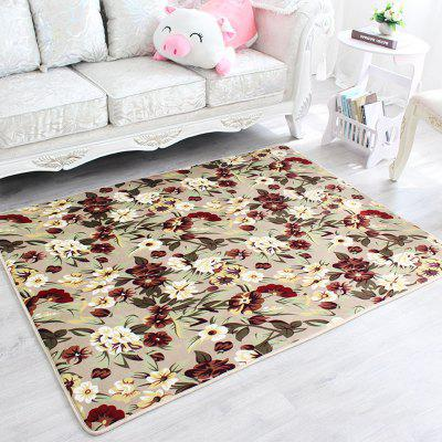 Buy COLORMIX 80X120CM Door Rug Fresh Vivid Floral Anti Skid Bathroom Mat for $26.16 in GearBest store