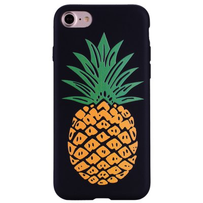 Pineapple Phone Case for IPhone 7 Cartoon Relief Soft Silicone TPU Cover Cases Protection Phone Bag with Stand