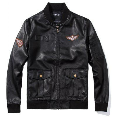 Air Force One PU Leather Jacket