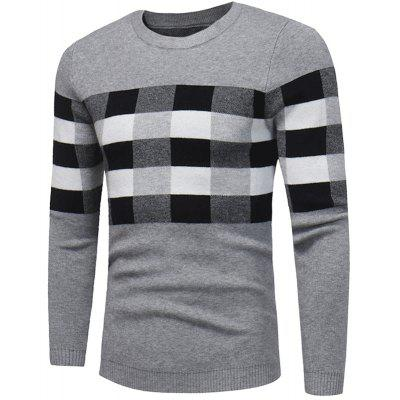new winter Men T-shirt sweater chest box color sweater W384