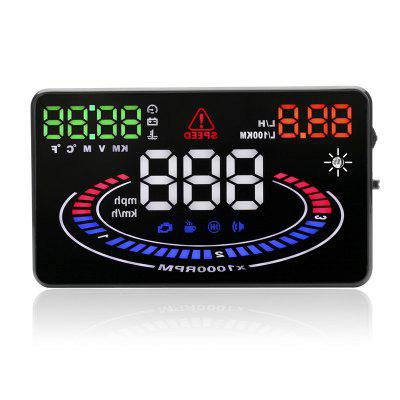 E300 Hot Selling 5.5 Inch Multi-color OBD2 HUD Head Up Display
