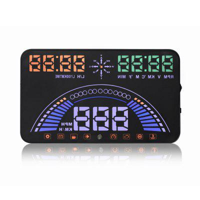 OBD and GPS HUD System HUD Head Up Display OBD II Interface Engine Fault Alarm Dynamic Speed 20 Kinds of Functional Data S7
