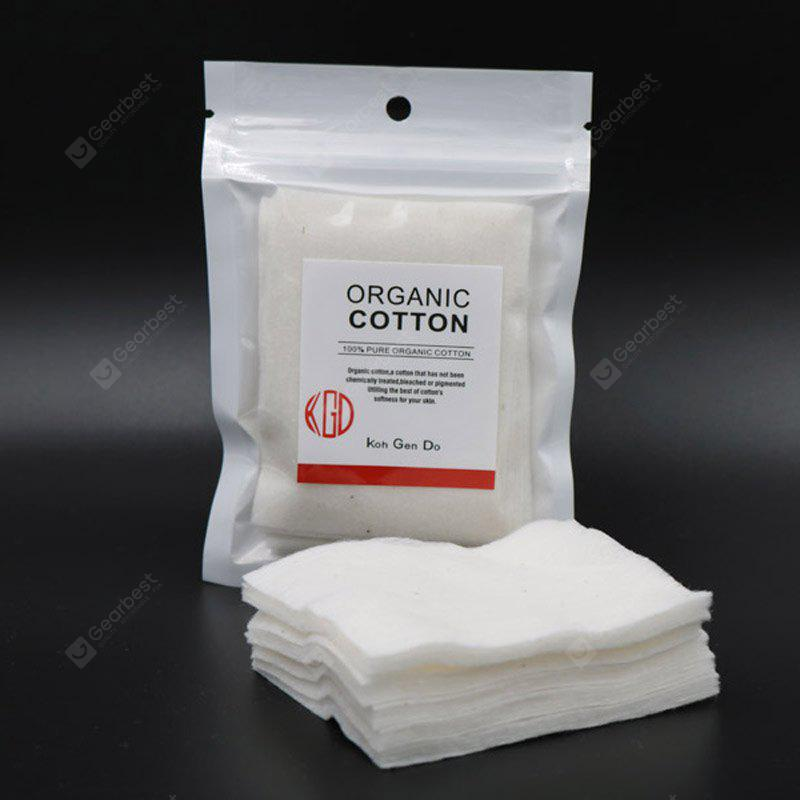 WHITE Original Iwodevape Organic Cotton Pure Natural Bleaching E-Cig Oil Cotton 60 *80MM 5PCS / Bag