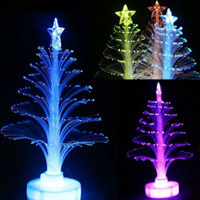 LED Colorful Fiber Optic Nightlight Christmas Tree Lamp Xmas Gift