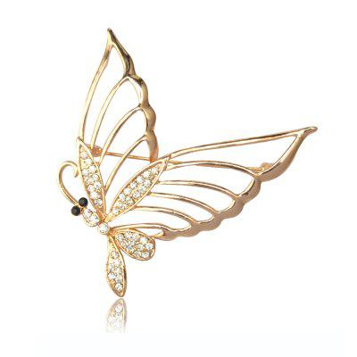 Модный Rhinestone Butterfly Brooch Pin