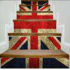 Colored Flags Pattern Style Stair Sticker Wall Decor LTT039 - MIX COLOR