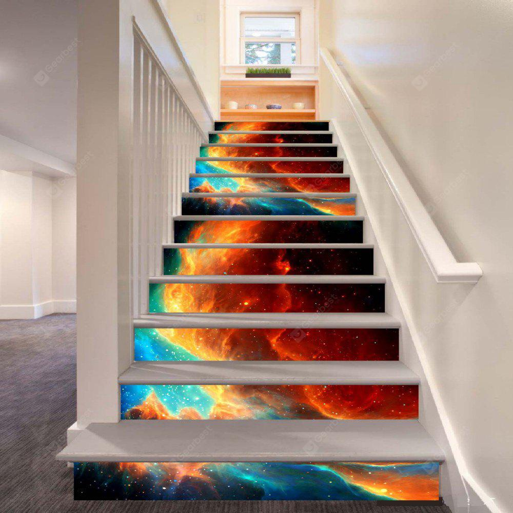 Beautiful Dream Flame Pattern Style Stair Sticker Wall Decor LTT040