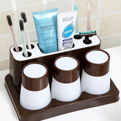 Buy Toothbrush toothpaste creative bathroom set storage box SHYP06 MOCHA for $379.17 in GearBest store