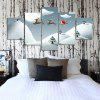 Modern Frameless Canvas Art Prints for Home Christmas Decoration 5pcs - COLORFUL