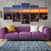 Unframed Canvas Prints of Modern City for Home Decoration 4pcs - COLORFUL