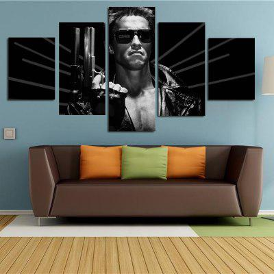 Modern Framless Prints on Canvas for Home Wall Decoration 5pcs
