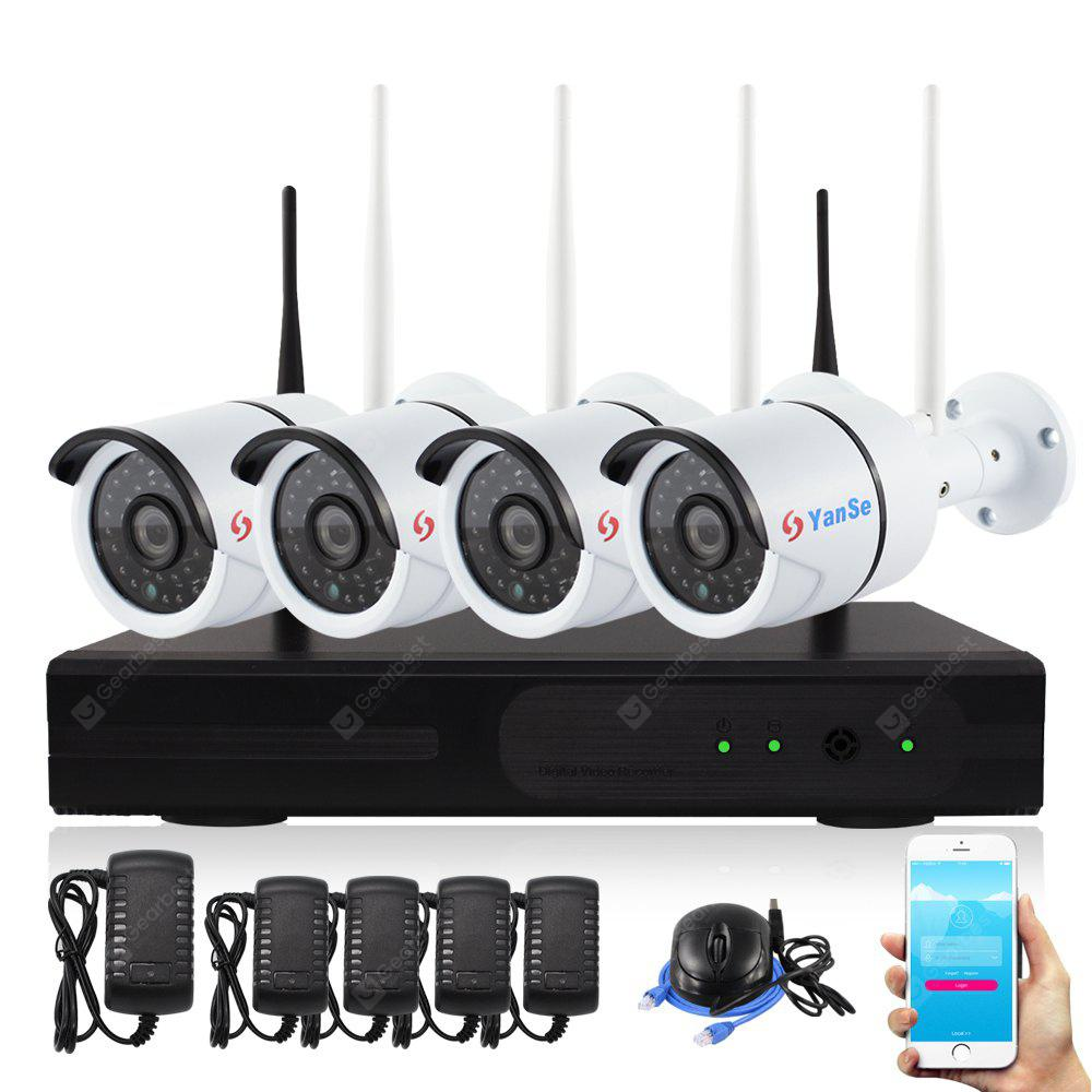 4CH 2.0MP Wireless WIFI IP Camera Waterproof IR Night Vision 1080P NVR Security System
