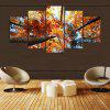 YSDAFEN HD Golden Leaves Canvas Print Room Decor Imprimir Poster Picture - COLORES MEZCLADOS