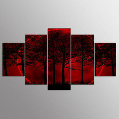 YSDAFEN HD Impreso Red Moon Sky en Canvas Room Decoration Print Poster Picture