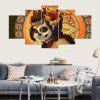 YSDAFEN 5 Panel Modern Day of Dead Dead Canvas Art para Living Room Wall Picture - COLORES MEZCLADOS