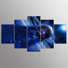 YSDAFEN 5 Panel Modern Saturn Canvas Print Art for Living Room Wall Picture