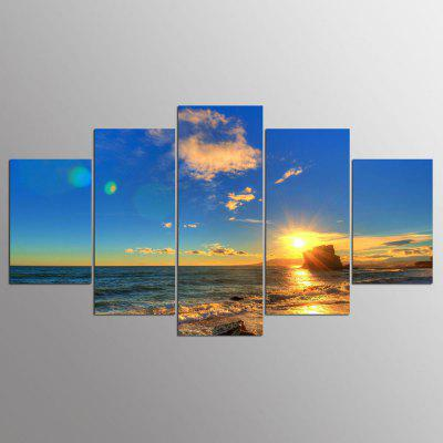 YSDAFEN 5 Panel Modern Beach Scenes Canvas Art Art para Living Room Wall Picture