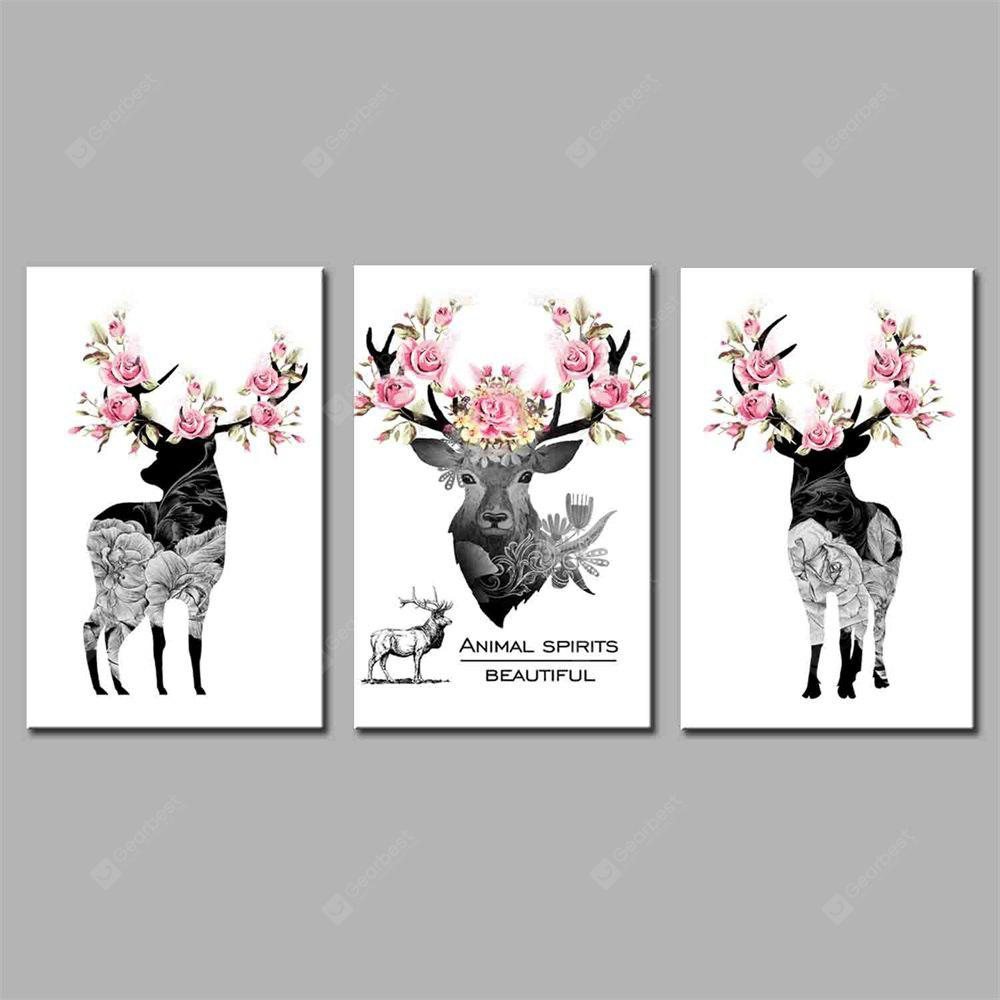 Hua Tuo A Deer Has You Ste Stretched Frame Ready To Hang Size 50 x 70CM A1765
