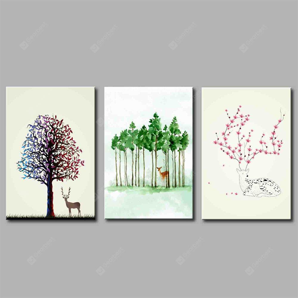 Hua Tuo Plant Style Stretched Frame Ready To Hang Size 50 x 70CM A1785