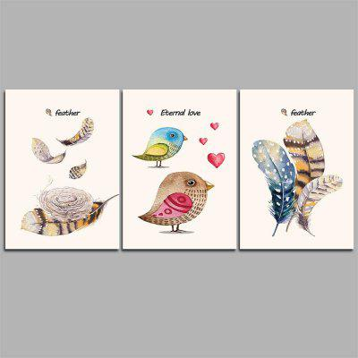 Hua Tuo Bird Style Stretched Frame Ready To Hang Size 50 x 70CM C1701